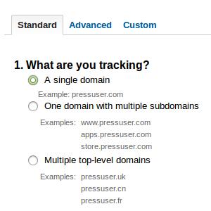 Set up a single domain in Google Analytics