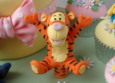 Facebook pages showing a Tigger cupcake