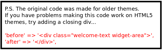 Extra div for html5 themes