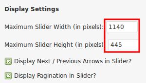 Genesis responsive slider display settings width and hight.