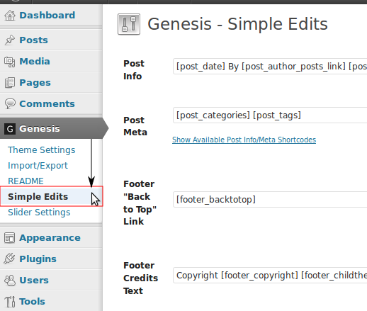 Open Genesis Simple Edits