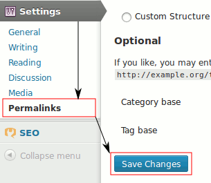Save permalinks settings