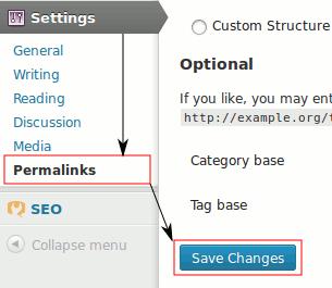 Save permalinks settings