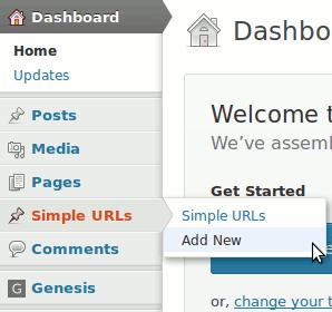 Simple urls add new url