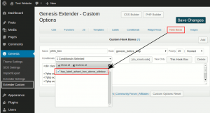 Assigning a label to a hook box or widget area in Genesis Extender