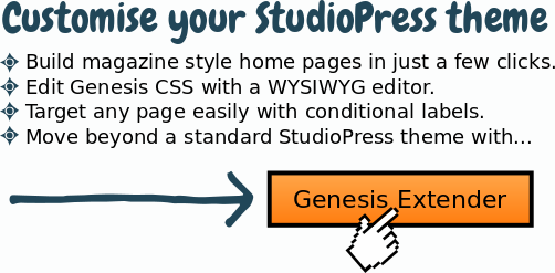 StudioPress theme customisation