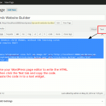 Using the WordPress post editor to make basic HTML