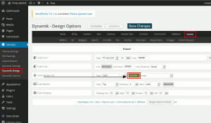 Change colour of Dynamik Website Builder footer.