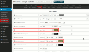 Change the colour of the search button in Dynamik Website Builder.