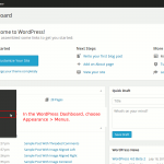 In the WordPress Dashboard choose Appearance > Menus to set a menu for your Executive Pro theme