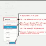 Recent posts widget in primary sidebar