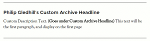 This box appears at the top of your blog post custom archive page.