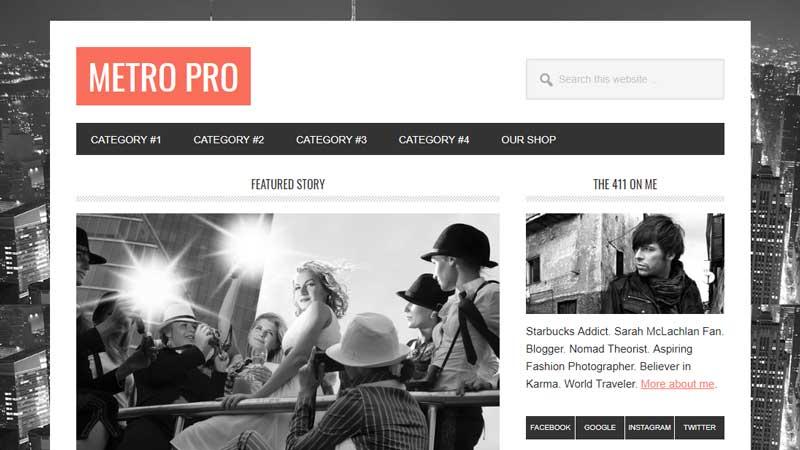 Metro Pro theme from StudioPress