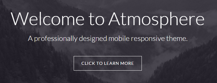 Text displaying over a large background image in Front Page 1 widget area of Atmosphere Pro theme