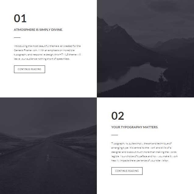 Atmosphere Pro theme Genesis featured page widget