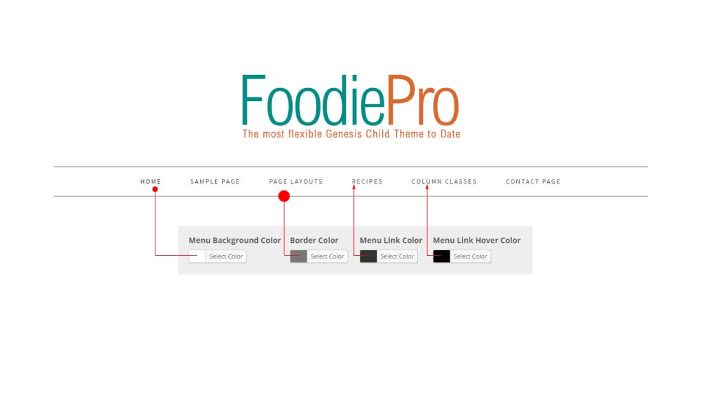 Navbar Color Settings Foodie aPro