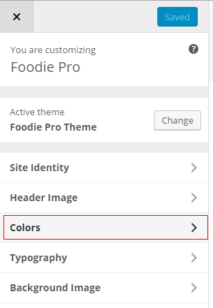 Customize Colors Foodie Pro