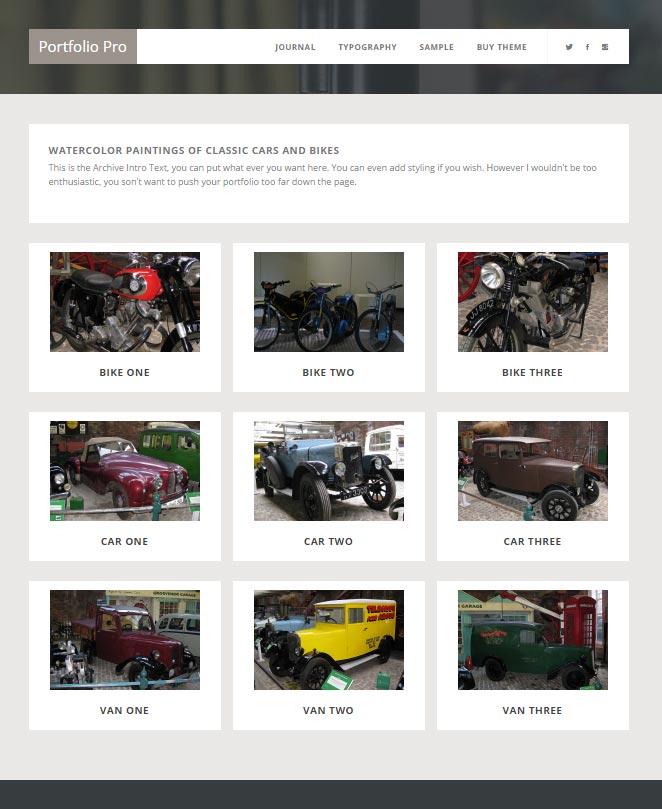 Genesis Portfolio Pro Archive Page