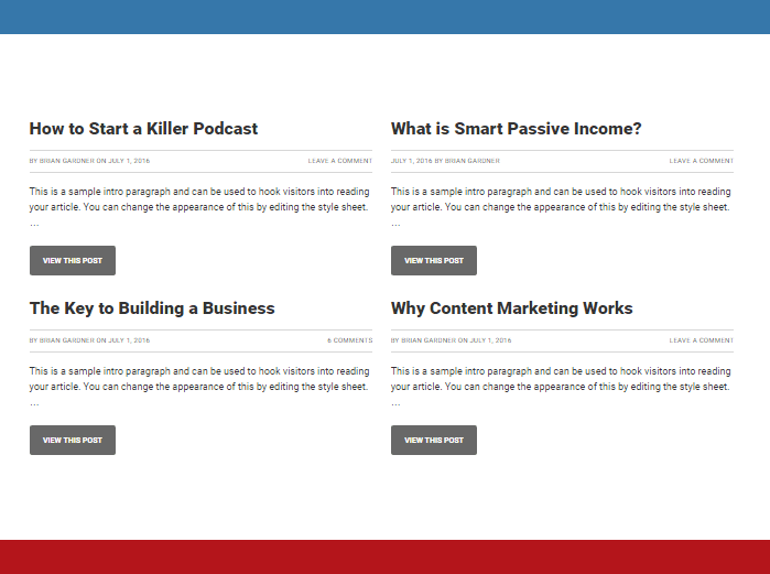Smart Passive Income Front Page 4 widget area