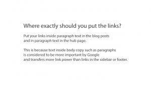 Put the links in paragraph text or body copy