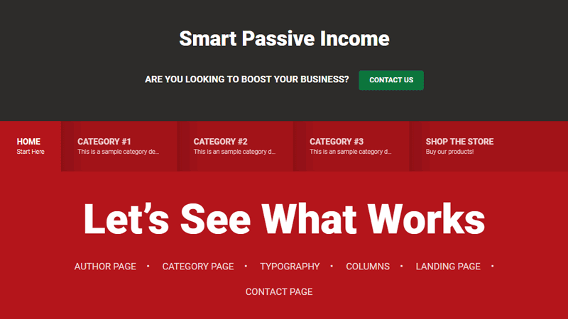 Smart Passive Income theme from StudioPress