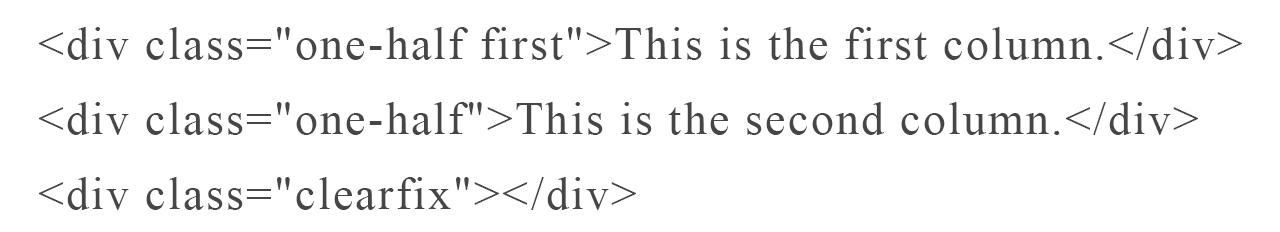 one half Genesis column class code