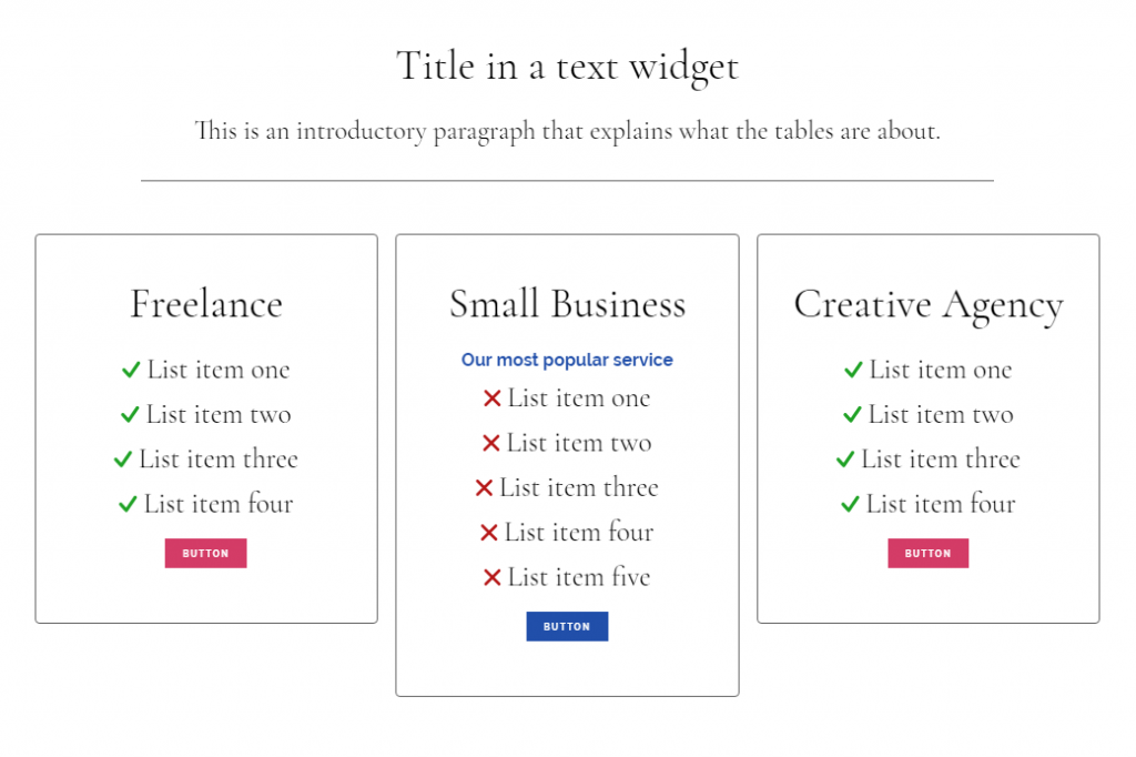 Using Genesis CSS I tweaked this page element to display: DIY Tickbox Lists