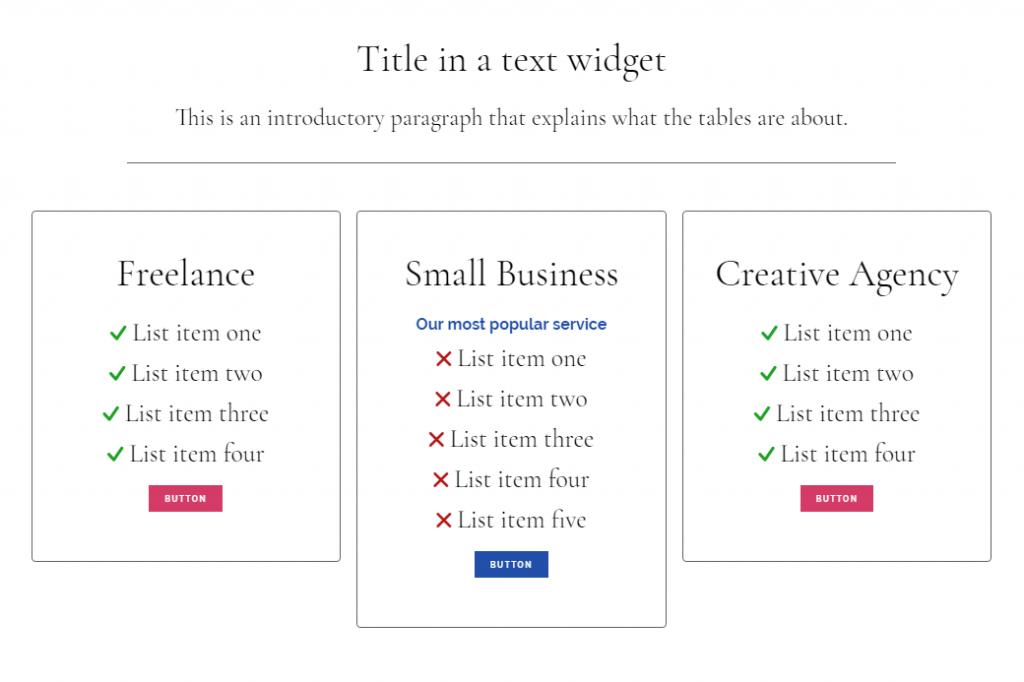 Using Genesis CSS I tweaked this page element to display: DIY Tickbox Lists