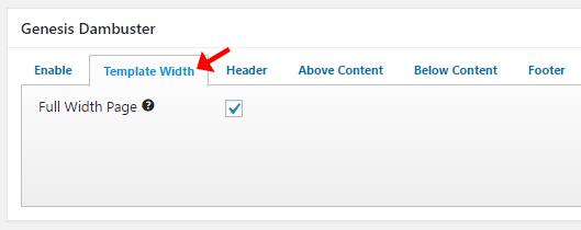 Genesis Dambuster full width content