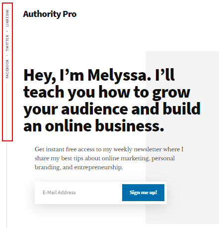 Authority Pro Social Menu