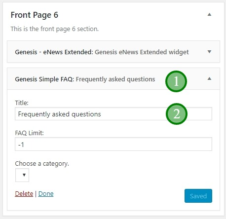 Academy Pro Front-Page-6 simple faq widget