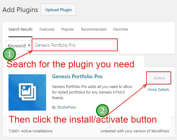 Find, install and then activate the plugins.