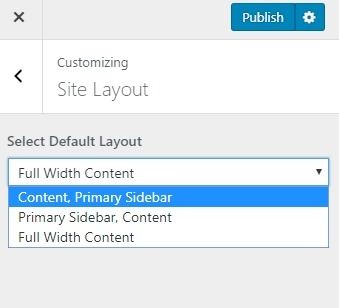 Academy Pro full width or sidebar layout