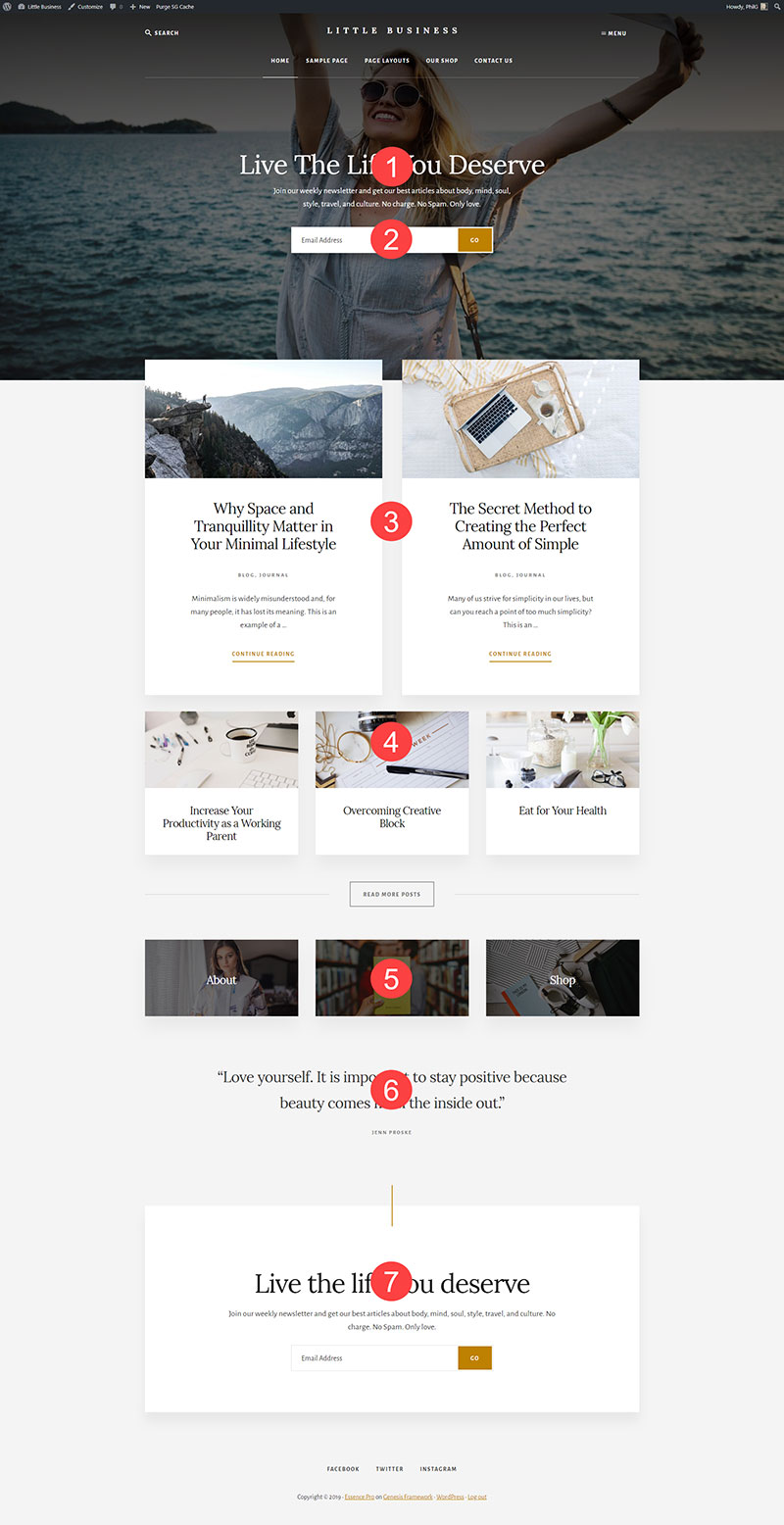 Essence Pro theme by StudioPress