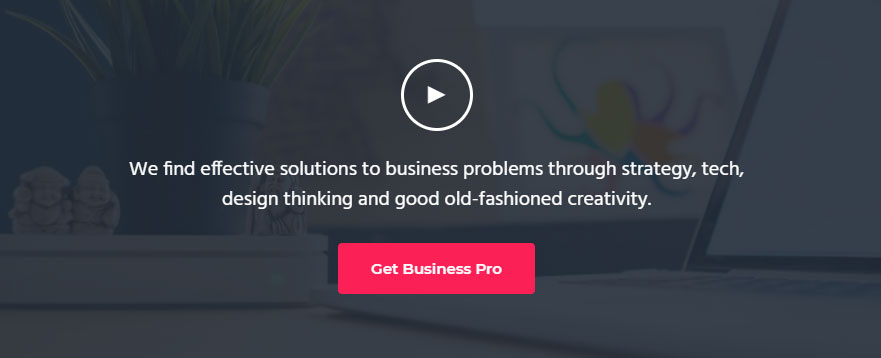 Front Page 4 widget area of Business Pro theme includes a show-video CSS class