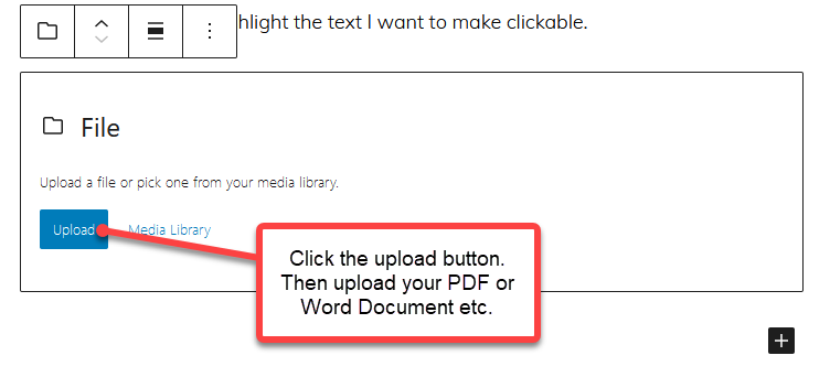 You can upload a file as you write and publish a WordPress post. Then your readers can download that file if they wish.